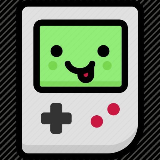 emoji, emotion, expression, face, feeling, gameboy, naughty icon