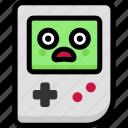 emoji, emotion, expression, face, feeling, gameboy, shocked icon