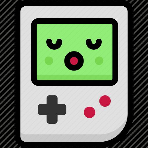 emoji, emotion, expression, face, feeling, gameboy, sleeping icon