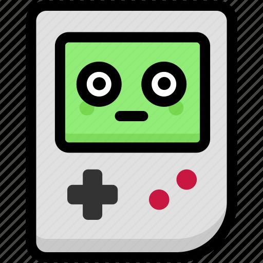 emoji, emotion, expression, face, feeling, gameboy, stunning icon