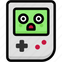 emoji, emotion, expression, face, feeling, gameboy, stunning icon