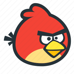 angry, animal, bird, console, game icon