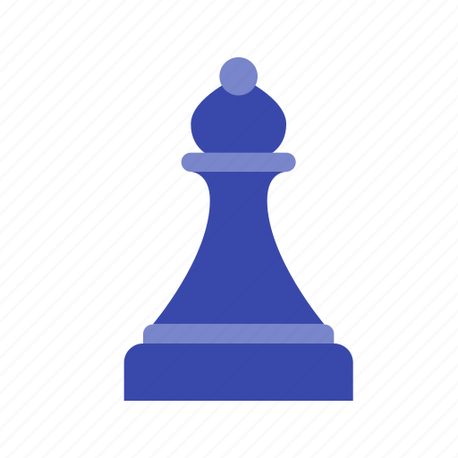 bishop, black bishop, chess, game, piece, strategy icon