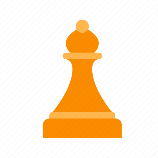 bishop, chess, figure, game, piece, strategy, white icon