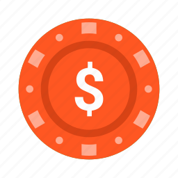 casino, chip, gambling, game, games, poker, roulette icon