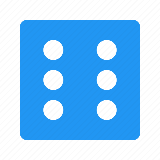 casino, dice, dice six, game, gaming icon