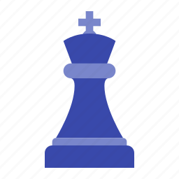 black king, chess, figure, game, piece, strategy icon