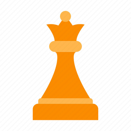 chess, game, piece, queen, strategy, white icon
