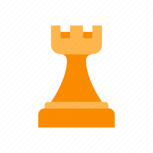 chess, figure, game, piece, rook, strategy, white icon