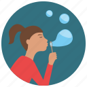 bubbles, games, soap, soapbubble, toys icon