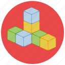 building, cubes, games, play, play cubes, toys icon