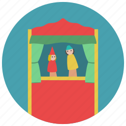games, puppet, puppet theatre, story, tale, theatre, toys icon
