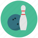 ball, bowl, bowling, bowling pin, games, toys icon
