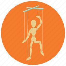 games, marionette, puppet, puppet on a string, toys icon