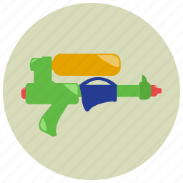 games, gun, summer, toys, water, water gun icon