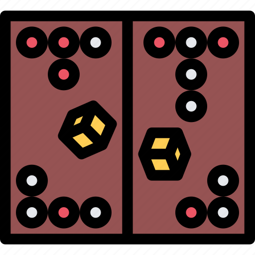 backgammon, casino, game, party, video game icon
