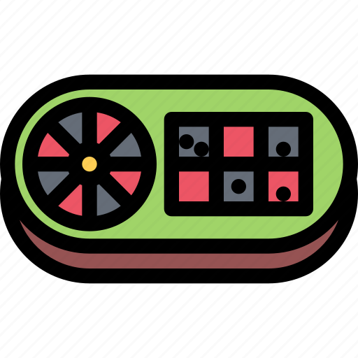 casino, game, party, roulette, video game icon