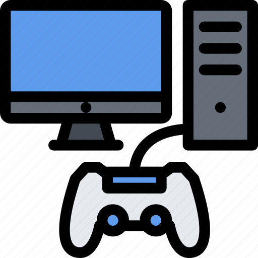 casino, computer, game, party, video game icon