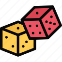 casino, dice, game, party, video game icon