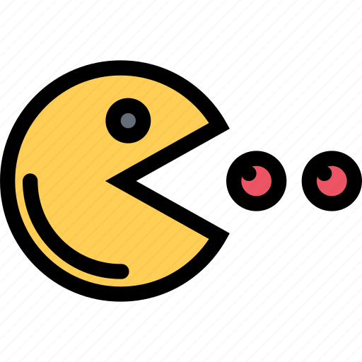 casino, game, pacman, party, video game icon