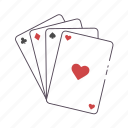 cards, deck, flash, gamble, poker icon