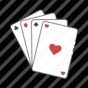 cards, deck, flash, gamble, poker