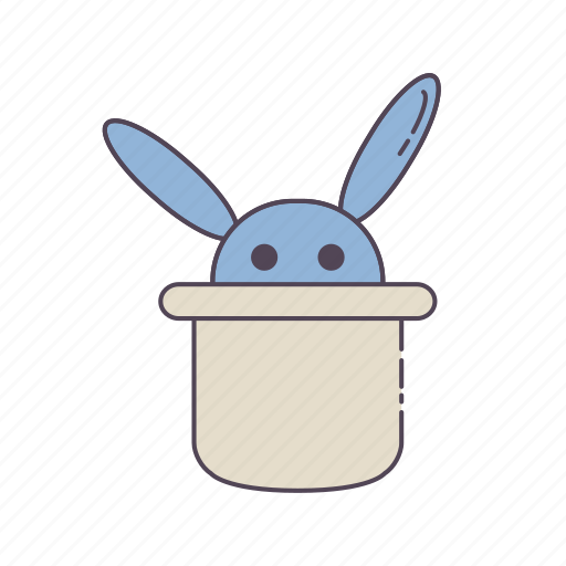entertainment, game, hobby, magic, rabbit icon