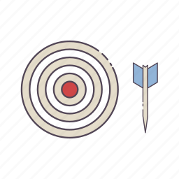 aim, bullseye, dart board, darts, game, target icon