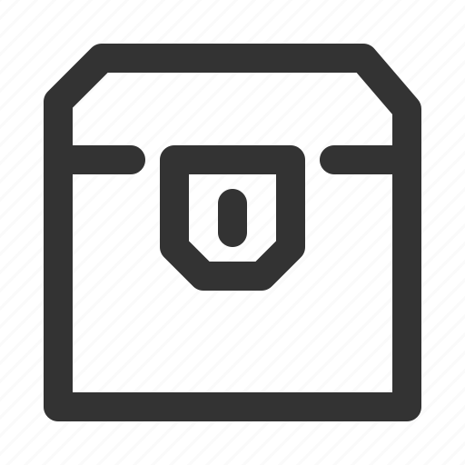 crate, goods, loot box, loot chest, treasure box, treasure chest icon