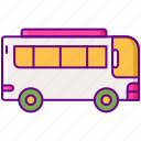 bus, gamification, transport icon
