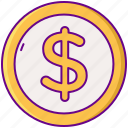 coin, gamification, money icon