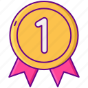 award, first, gamification icon