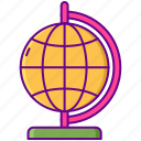 gamification, globe, web icon