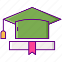 education, gamification, graduate icon