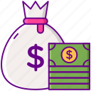 dollar, gamification, money icon