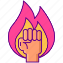 fire, gamification, motivation icon