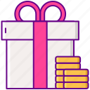 gamification, prize, reward icon
