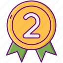 award, gamification, second icon