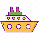 gamification, ship, transportation icon
