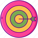 gamification, goal, target icon