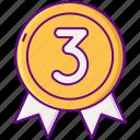 award, gamification, third icon