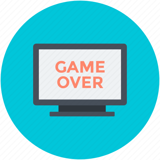 Game, game over, lcd, led, monitor screen icon - Download on Iconfinder