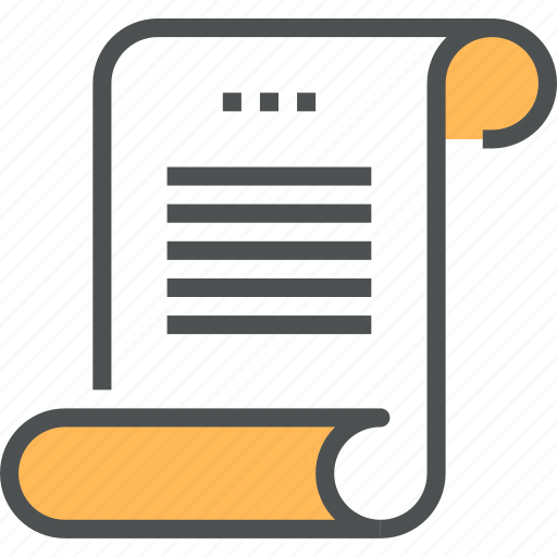document, page, paper, parchment, roll, scenario, scroll, text icon