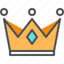 coronation, crown, golden, king, leader, noble, queen, throne icon