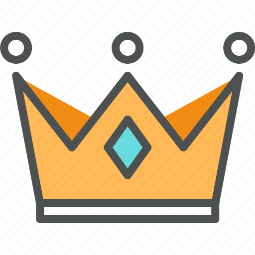 Coronation, crown, golden, king, leader, noble, queen icon - Download on Iconfinder