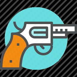 combat, firearms, gun, handgun, pistol, revolver, weapon icon