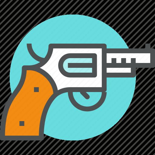 Combat, firearms, gun, handgun, pistol, revolver, weapon icon - Download on Iconfinder