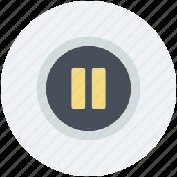 media control, multimedia, multimedia button, pause button, stop button icon