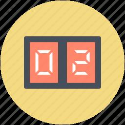 game score, score, score board, score counts, sports board icon