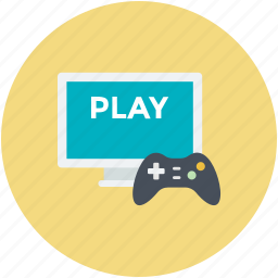 game pad, monitor, online game, playstation, videogame icon